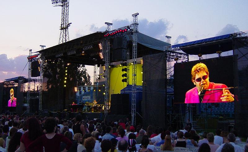 Scena, Lumini si Sonorizare Elton John