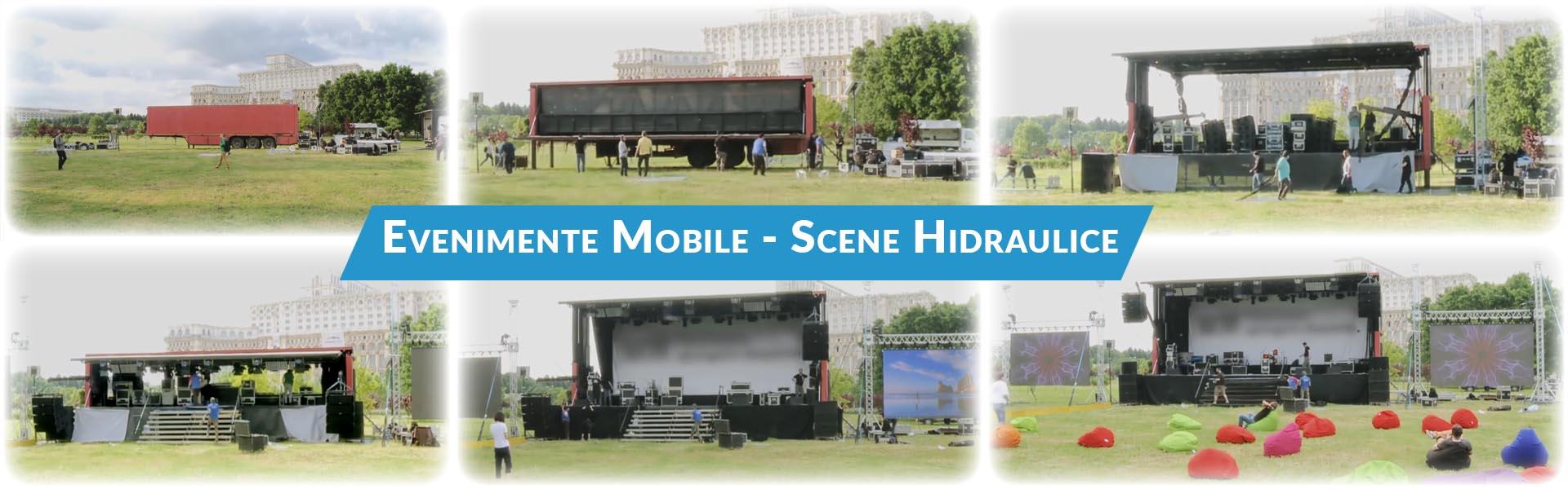 Inchiriere scena mobila 12 m, inchiriere led screen, sonorizare evenimente